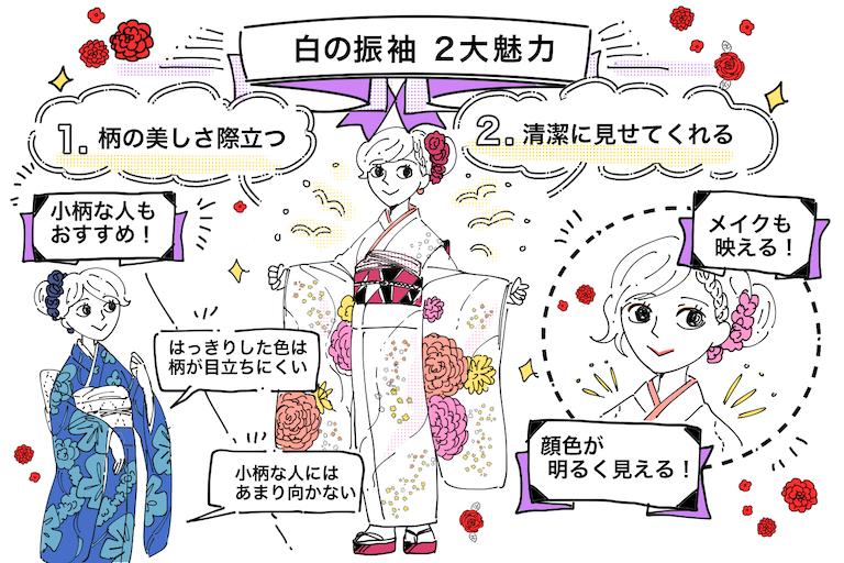 成人式は白い振袖で清楚さアップ♡2つの魅力を紹介!
