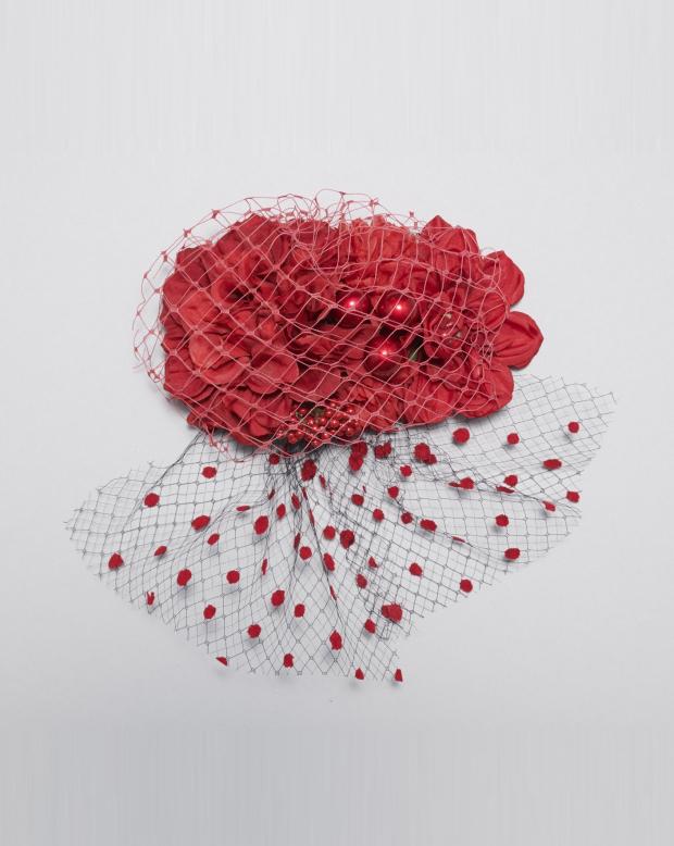 ラブリス髪飾り(赤)チュール