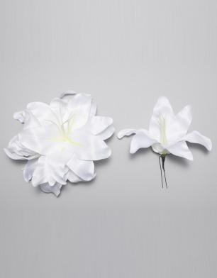 ラブリス髪飾り(白)大花