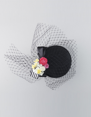 ラブリス髪飾り(黒)チュール・カクテル帽子