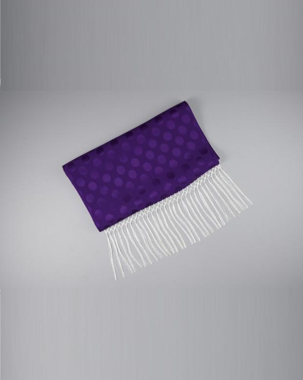 ラブリスしごき(紫)ドット・白フリンジ