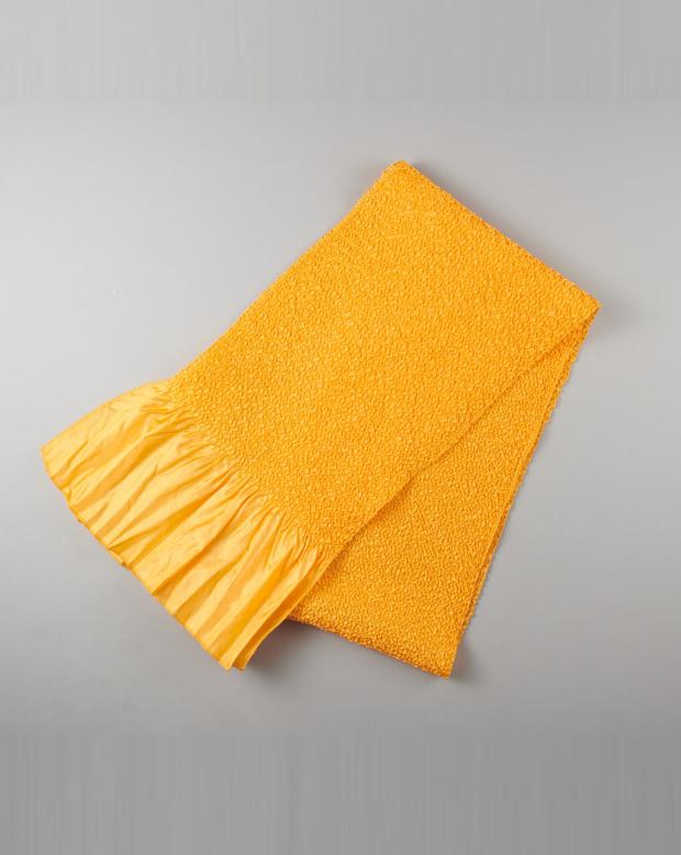 ラブリス帯揚げ(黄)絞り