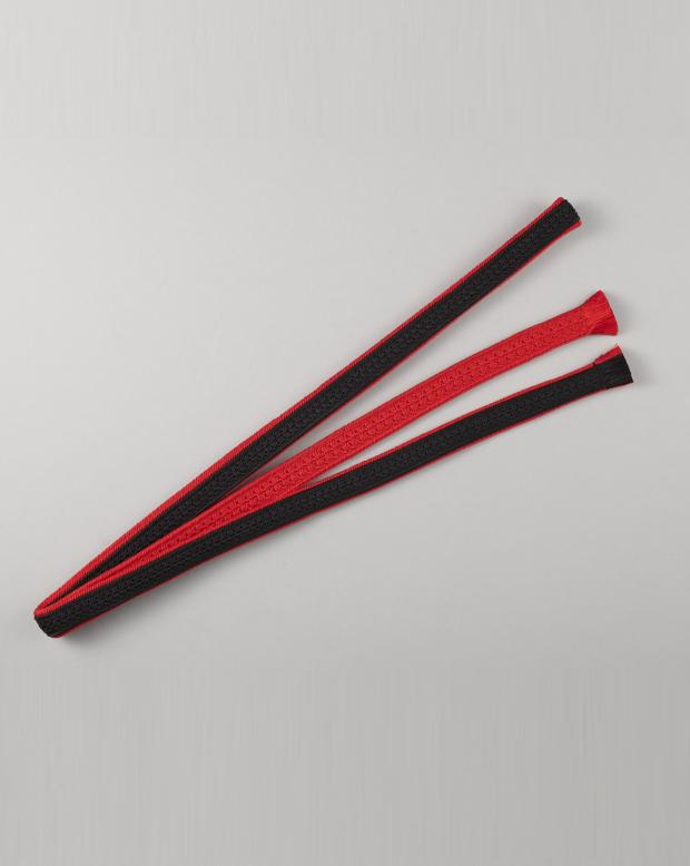 ラブリス帯締め(黒X赤)ライン・平