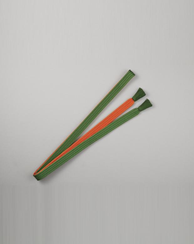 ラブリス帯締め(緑Xオレンジ)平