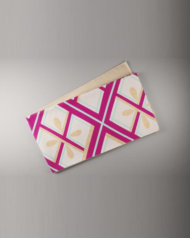 ラブリス袋帯(白XピンクX水色)ダイヤ