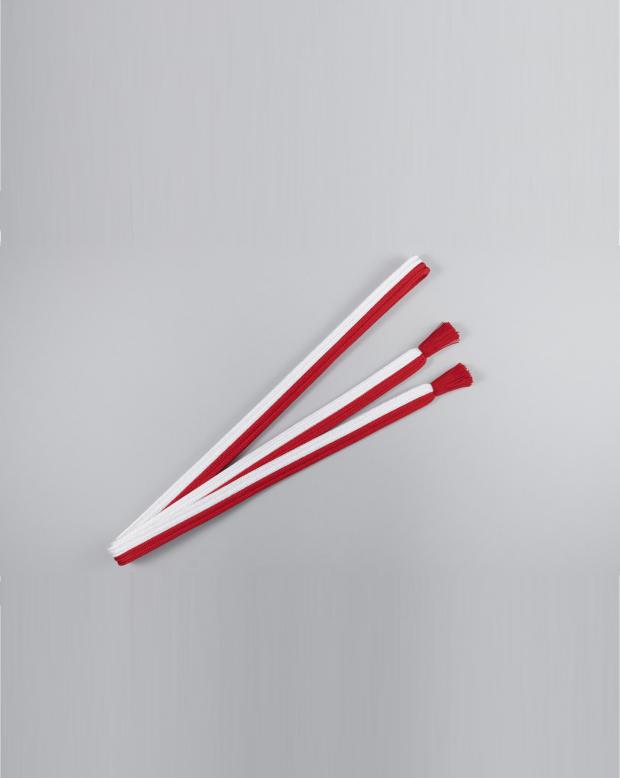 ラブリス帯締め(白X赤)平