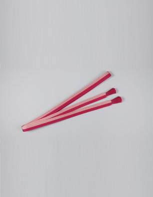 ラブリス帯締め(赤Xピンク)平