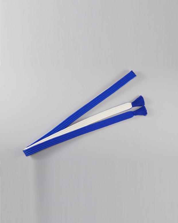 ラブリス帯締め(青X白)平
