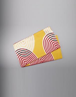 ラブリス袋帯(黄色X白X赤)丸