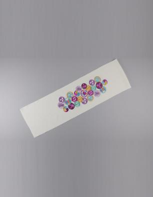 ラブリス半衿(白)丸・紋