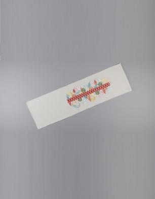 ラブリス半衿(白)赤ライン