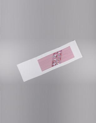 ラブリス半衿(白Xピンク)幾何学