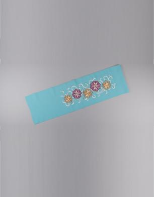 ラブリス半衿(水色)刺繍花