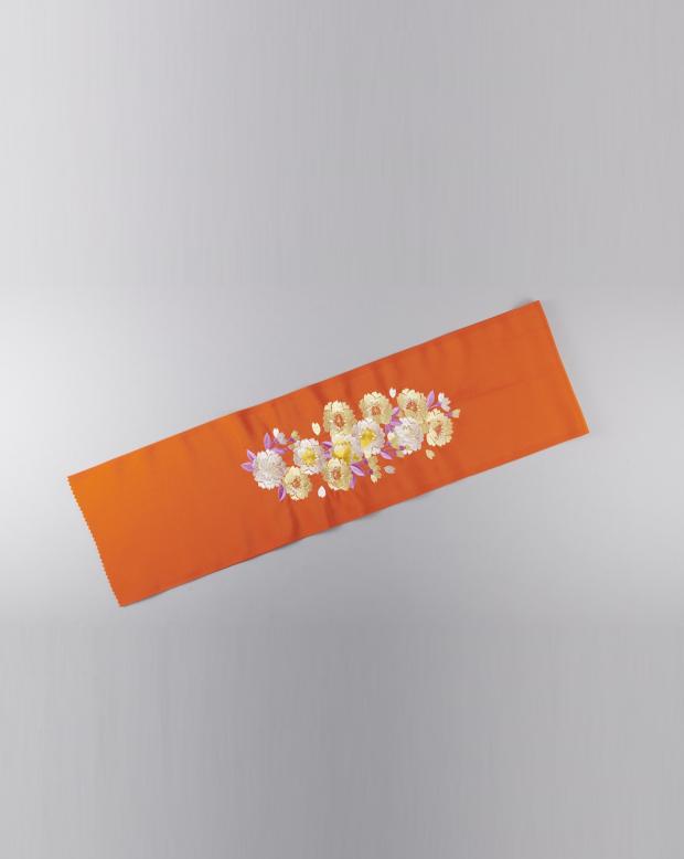 ラブリス半衿(オレンジ)花