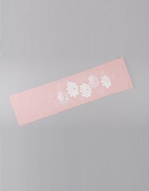 ラブリス半衿(ピンクX白)菊