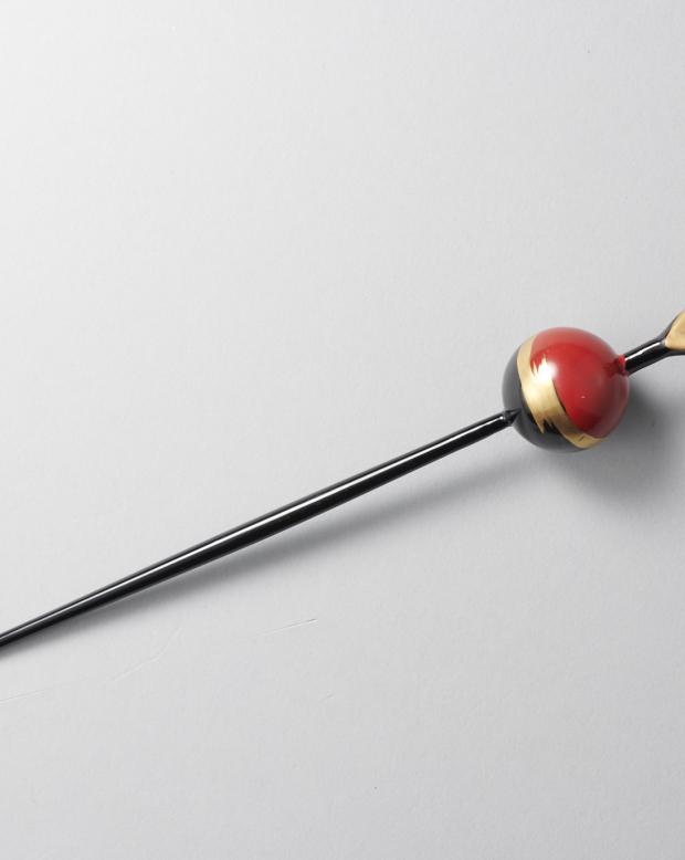 ラブリス髪飾り(赤X黒)かんざし
