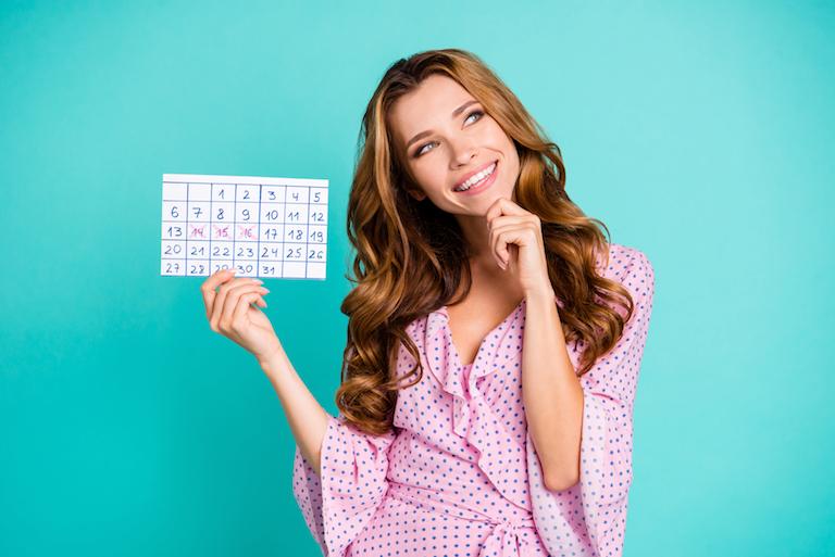カレンダーと女の子