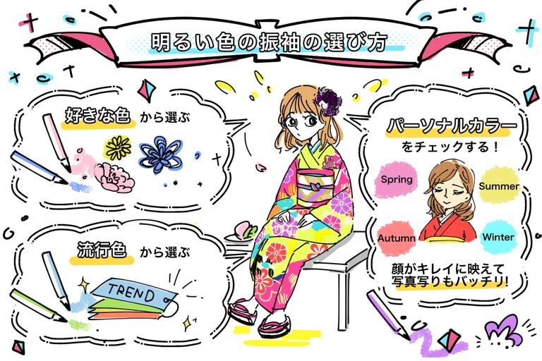 振袖は明るい色でパーッと煌めけ☆選び方4つのポイントを解説!