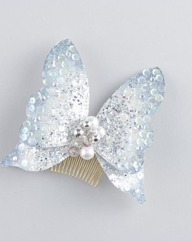 ラブリス髪飾り(水色)蝶