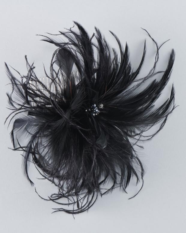 ラブリス髪飾り(黒)ファー