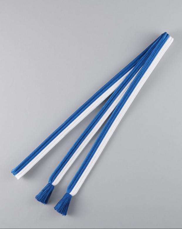 ラブリス帯締め(白X青)平