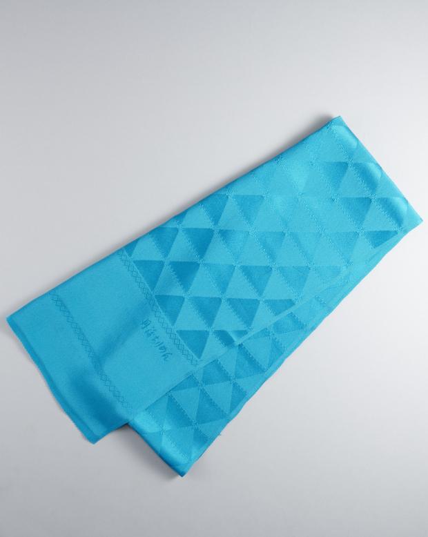 ラブリス帯揚げ(青)三角模様