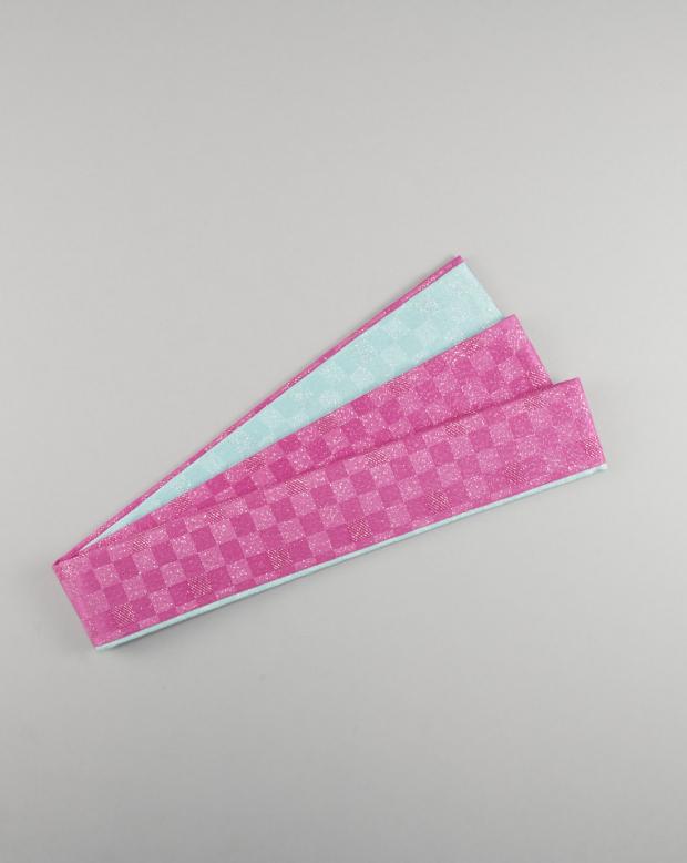 ラブリス重衿(ピンクX水色)市松