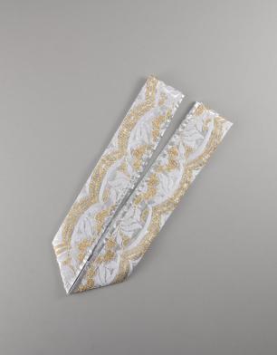 ラブリス重衿(銀X金X白)刺繍