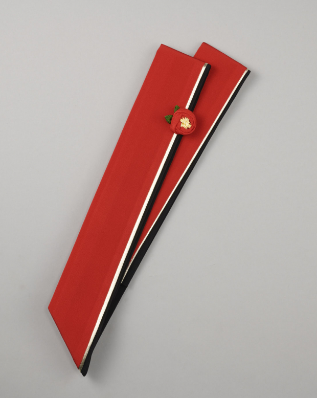 ラブリス重衿(赤X金X黒)椿付