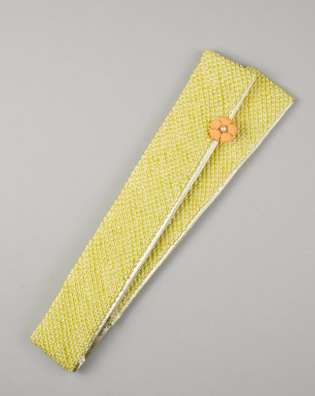 ラブリス重衿(黄緑)花飾り