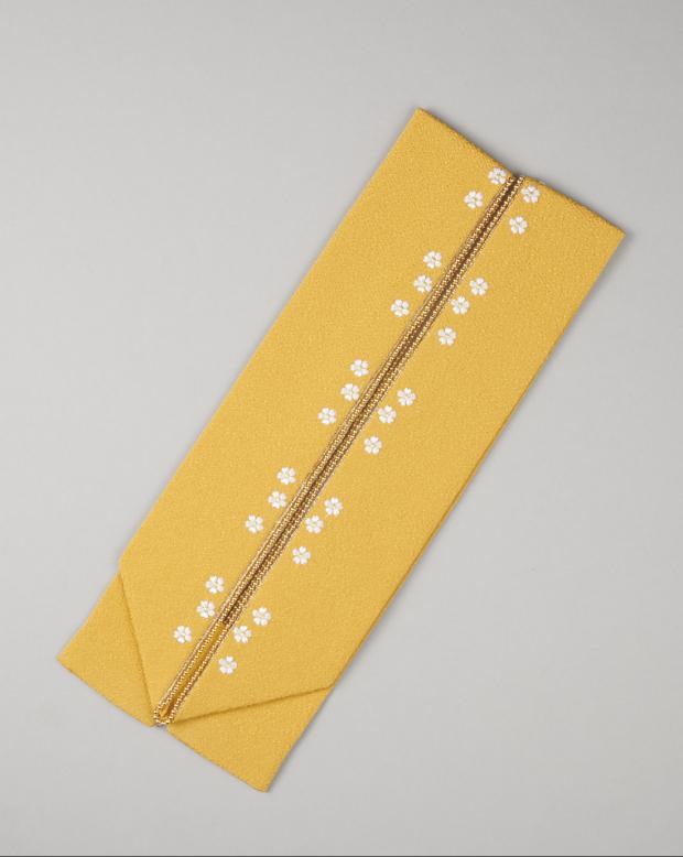 ラブリス重衿(黄)小花刺繍