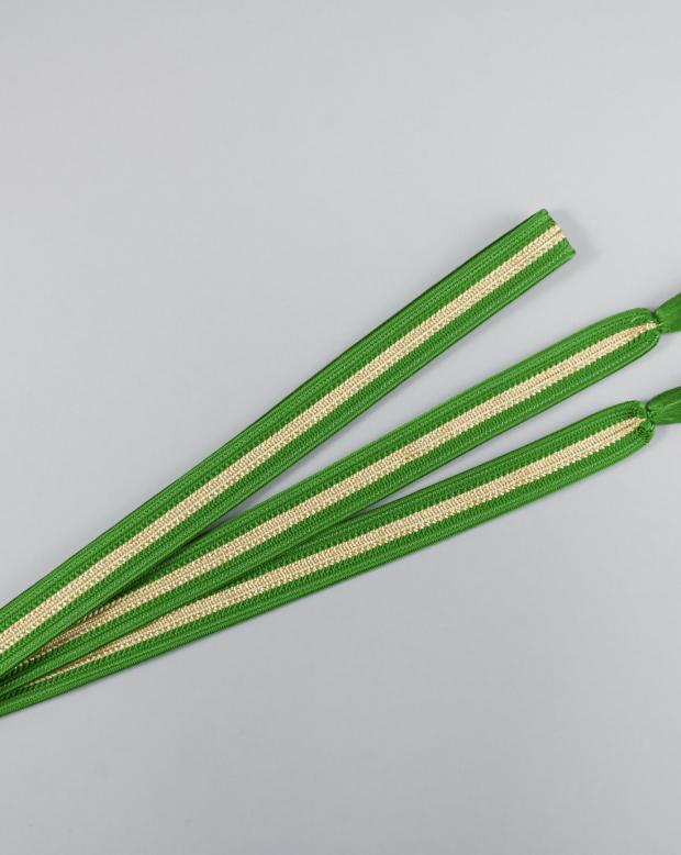 ラブリス帯締め(緑X金)平・ライン
