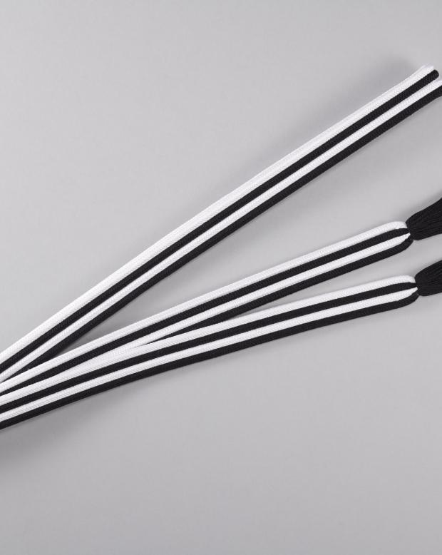 ラブリス帯締め(白X黒)ストライプ