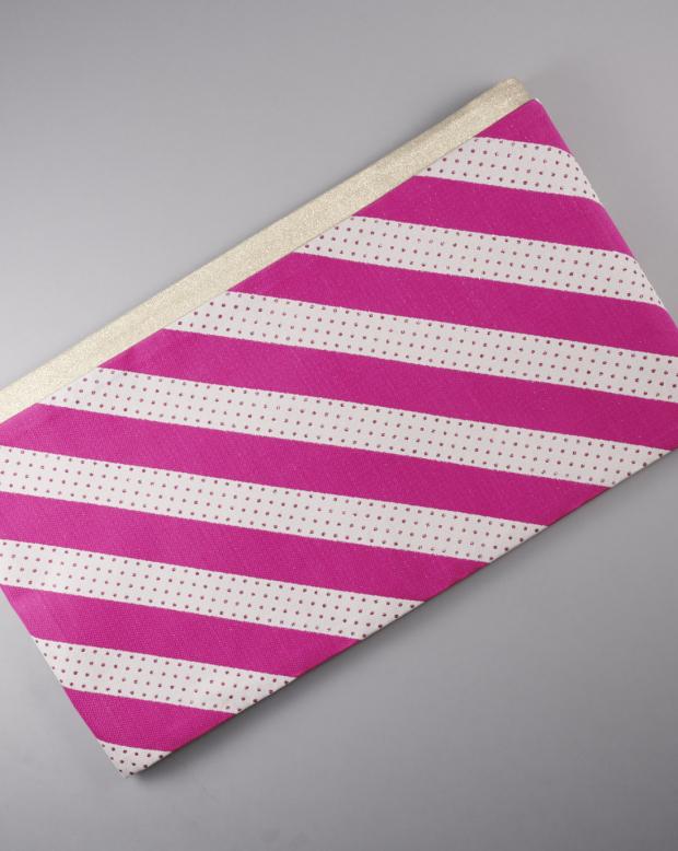 ラブリス袋帯(白Xピンク)斜めストライプ