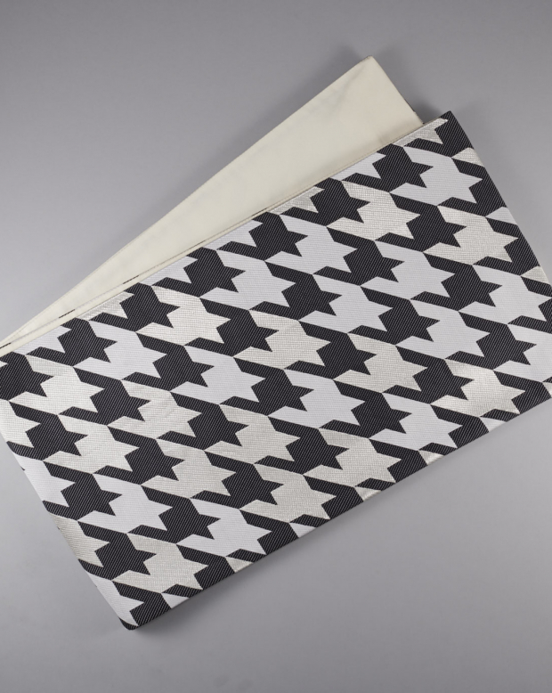 ラブリス袋帯(黒X白)千鳥柄
