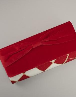 ラブリスバッグ(赤X白)ダイヤ・ベルベット