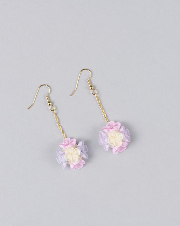ラブリスイヤリング(ピンク)花