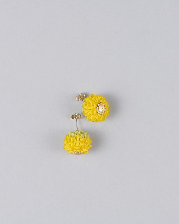ラブリスイヤリング(黄色)花・つまみ