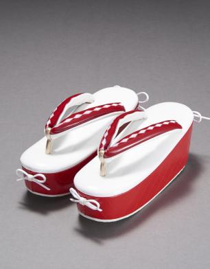 ラブリス草履(赤X白)リボン