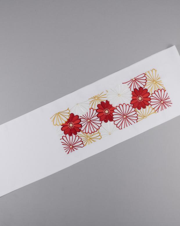 ラブリス半衿(白X赤)菊