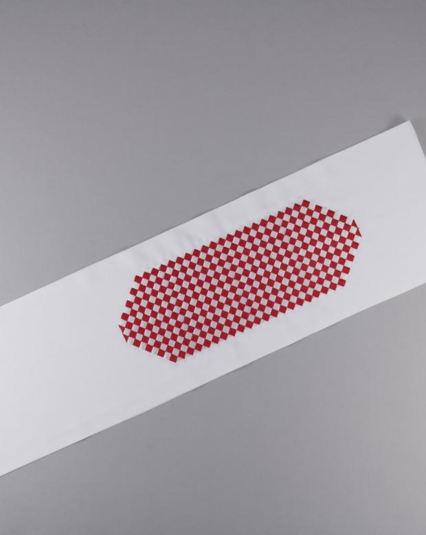 ラブリス半衿(白X赤)市松