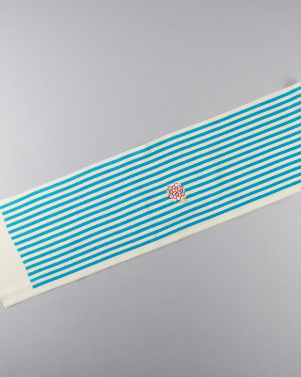 ラブリス半衿(水色X白)ストライプ