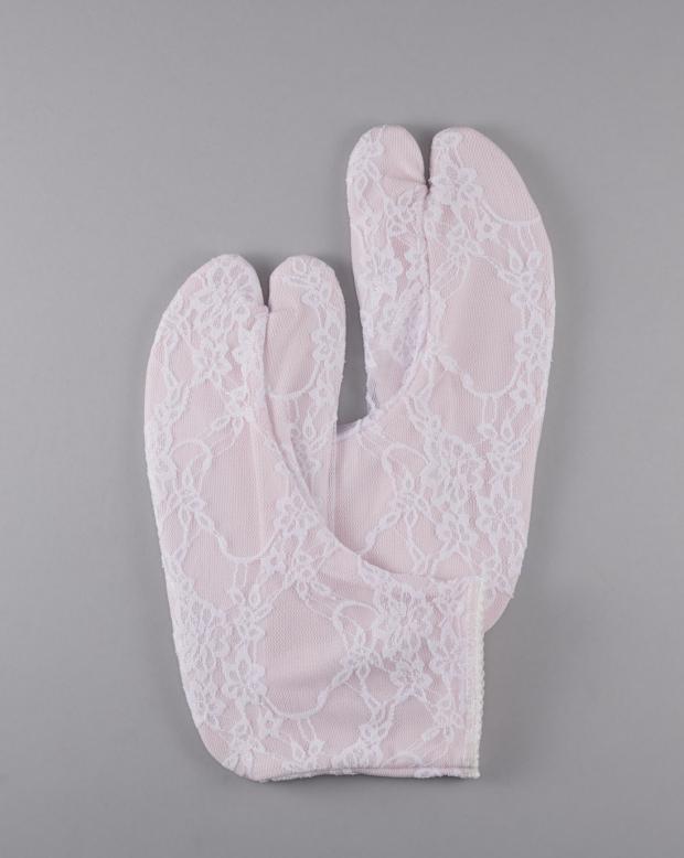 ラブリス足袋(ピンク)白レース