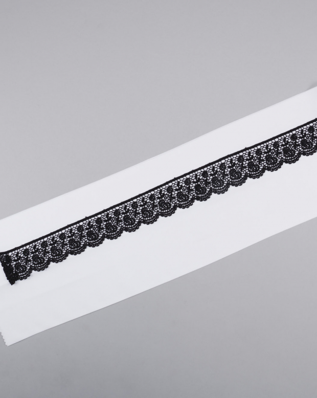 ラブリス半衿(白X黒)レース